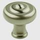 Century Solid Brass, Knob, 1-1/2'' dia. Matt Satin Nickel, 18128-MSN
