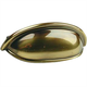 Century Solid Brass, Cup Pull, 3'' c.c. Polished Antique, 19353-PA