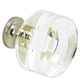 G100 Clear Glass Knob with Polished Nickel Base