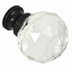 G90 Clear Glass Knob with Oil-Rubbed Bronze Base