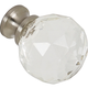 G90 Clear Glass Knob with Brushed Nickel Base