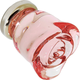 G36 Pink Glass Rose Knob