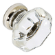 G34 Clear Glass Knob with Nickel Base