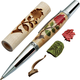 Woodturner's Red Rose Laser-Cut Inlay Pen Kit Blank