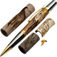 Woodturner's Bald Eagle Laser-Cut Inlay Pen Kit Blank