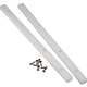 White Plastic Guide Rails for 17mm 21/32'' Grooved Drawers