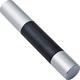 Plastic and Aluminum Pen Storage Tube - Silver/Black