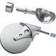 Stainless Steel Pizza Cutter and Ice Cream Scoop Hardware Bundle