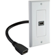 HDMI Wall Outlet with HDMI Pigtail Port and Décor Wall Plate