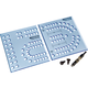 Rockler XL Cribbage Board Templates, 1/4'' Hole