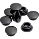 3/8'' Black Anodized Aluminum Hole Plugs, 8-Pack