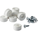 FastCap Euro Door Stops for Inset Doors, White
