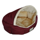 Armarkat Burgundy and Beige Soft Pet Bed