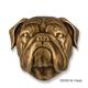 Bulldog Dog Head Door Knocker