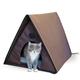 KH Mfg Outdoor Heated Multiple Kitty-A-Frame House