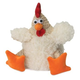 goDog Fat White Rooster Dog Toy Large