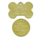 Brass Pet ID Tag for Large Pets Bone