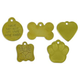 Brass Pet ID Tag Paw Print