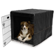 Midwest Quiet Time Black Dog Crate Cover 48 inch