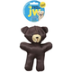 JW Pet Crackle Heads Canvas Bear Dog Toy Large