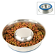 Durapet Slow Feed Stainless Steel Pet Bowl Large