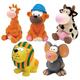 Zanies Medium Latex Animals Dog Toy 5pk