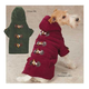 East Side Collection Toggle Dog Coat S/M GRN