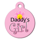 Daddys Girl Pet ID Tag Large