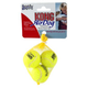 Air KONG X-Small Squeaker Tennis Ball Bag of 3