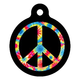 Tie Dye Peace Symbol Pet ID Tag Small