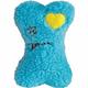 Zanies Heart Berber Bone Dog Toy WHT