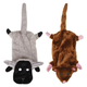 Zanies Barnyard Unstuffies Dog Toy LG Sheep