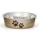 Loving Pets Metallic Dog Bowl Large Champagne