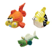 Zanies Large Latex Fish Dog Toy 3pk