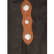 Tough-1 Suede Leather Silver Concho Chinks X-Large