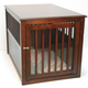Crown Pet Crate Table Large Mahogany