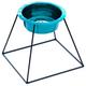 Pyramid Diner Wide Rim Dog Bowl Stand 64oz Teal