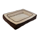 Chevron Gusset Low Bumper Chocolate Pillow Dog Bed