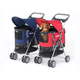 PetZip 3 in 1 Pet Carrier and Stroller Red
