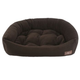 Jax and Bones Velour Espresso Dog Bed XLarge