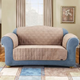 Sure Fit Suede Loveseat Cover for Pets Taupe