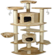 Go Pet Club 80 inch F2030 Beige Cat Tree Furniture