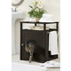 Cat Washroom-Nightstand Pet House Walnut