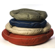 Classic Round Twill Bolster Dog Bed Barn Red