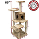 Majestic 66 Inch Casita Cat Furniture Tree