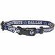 Dallas Cowboys Silver Trim Dog Collar Large