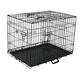 Go Pet Three-Door Metal Dog Crate 48x29x32