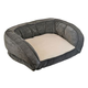 Chevron Gusset Couch Gray Dog Bed Large