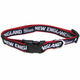 New England Patriots Red Trim Dog Collar Large