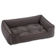 Jax and Bones Microsuede Pewter Dog Bed XLarge